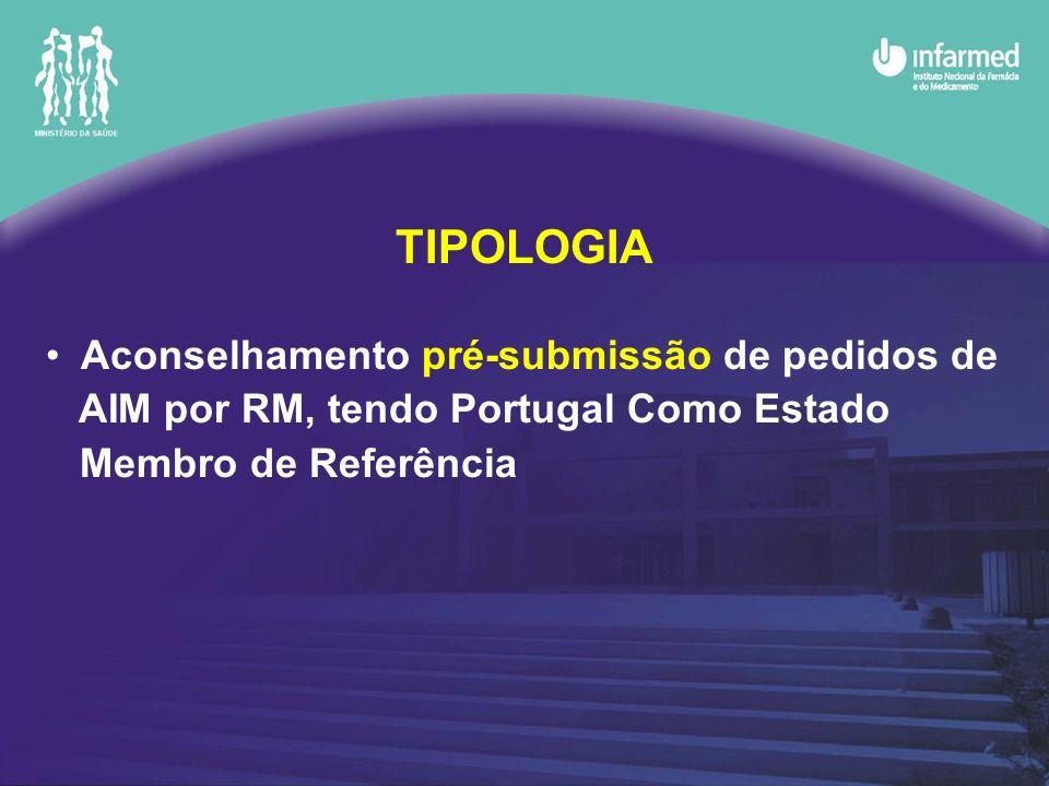 TIPOLOGIA Aconselhamento pré-submissão de pedidos de