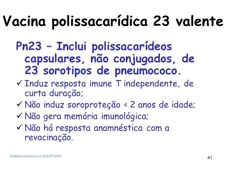 Vacina polissacarídica 23 valente