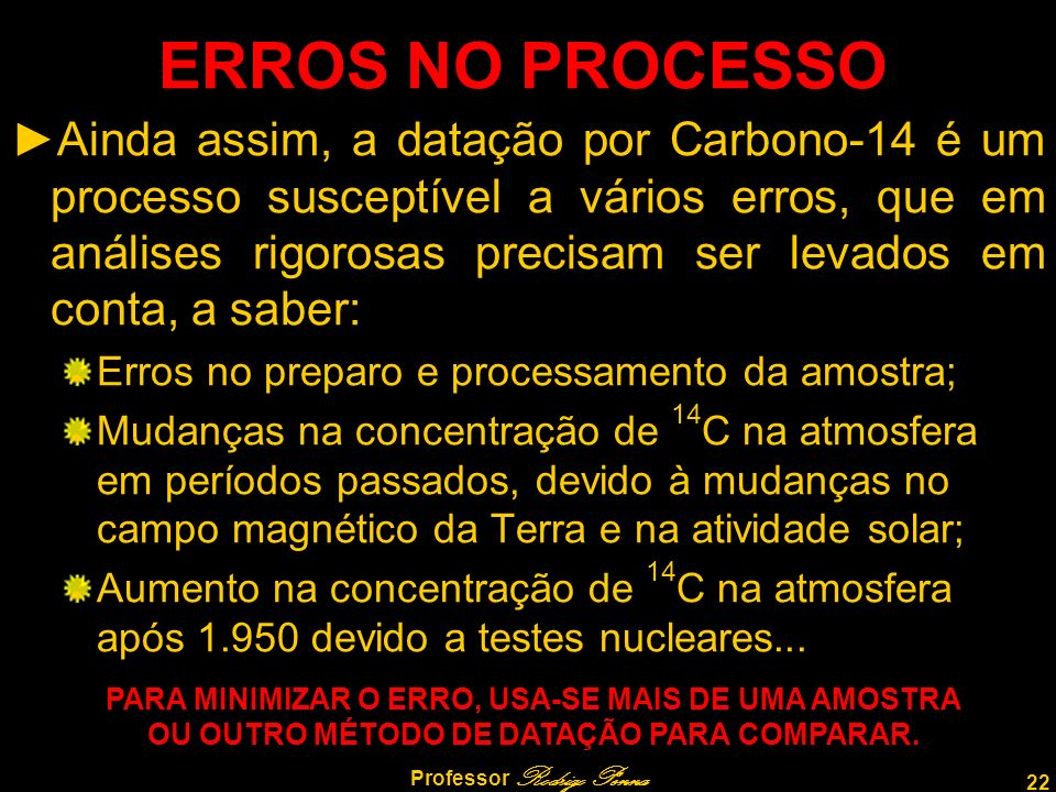 ERROS NO PROCESSO