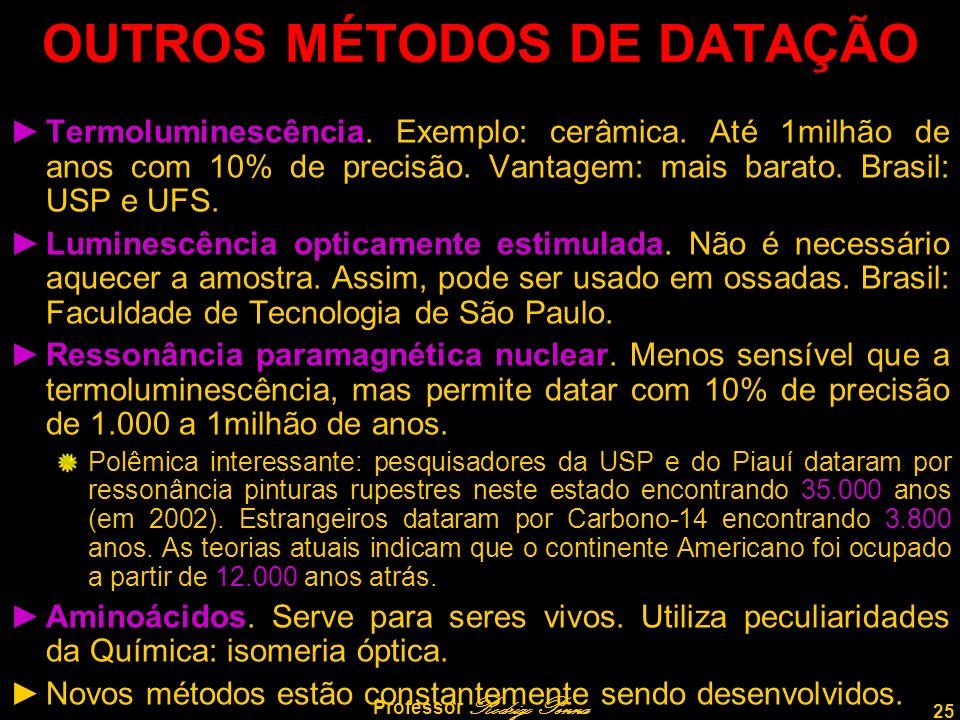 OUTROS MÉTODOS DE DATAÇÃO