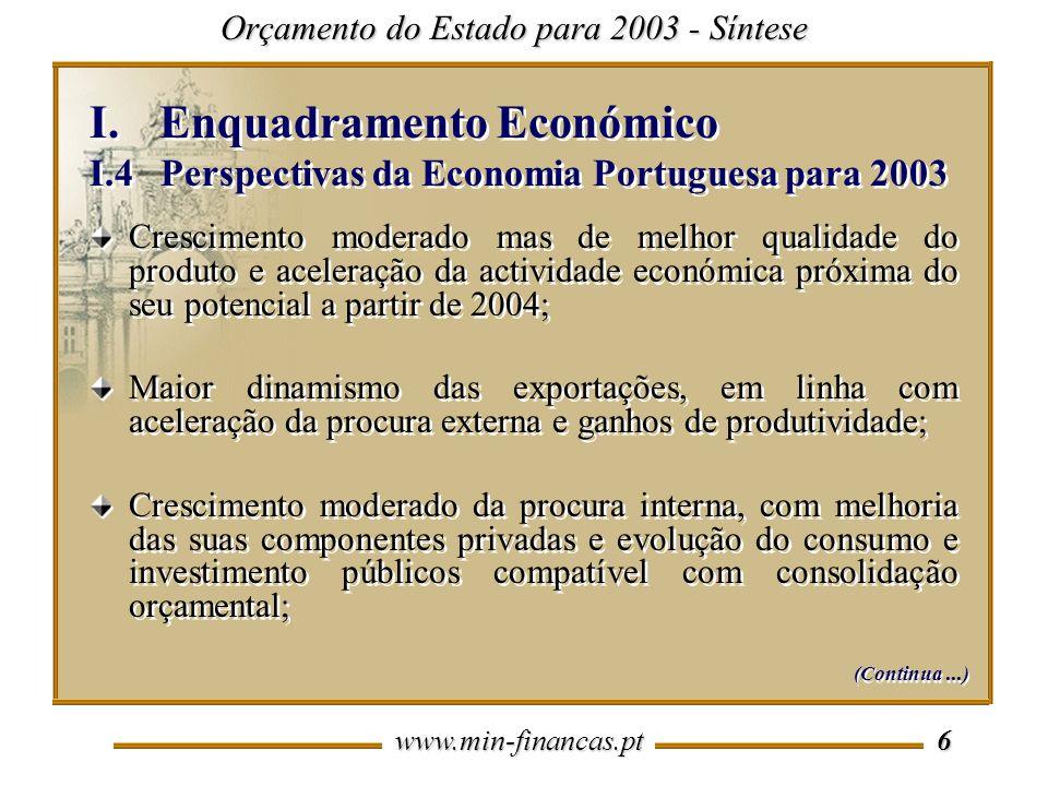 Enquadramento Económico