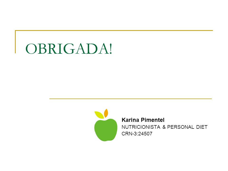 Karina Pimentel NUTRICIONISTA & PERSONAL DIET CRN-3:24507