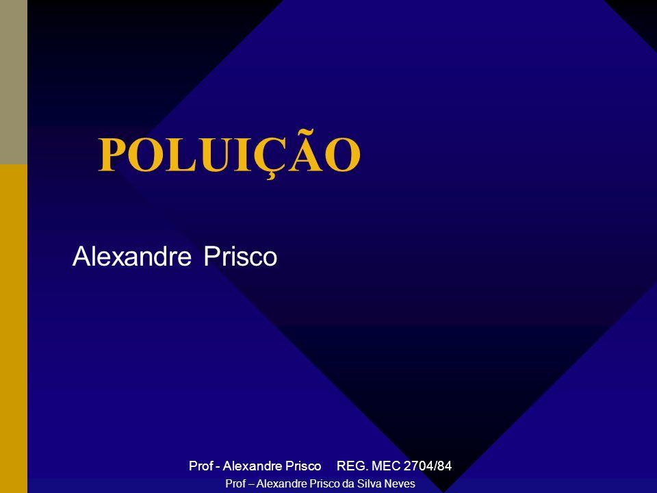 POLUIÇÃO Alexandre Prisco Prof - Alexandre Prisco REG. MEC 2704/84
