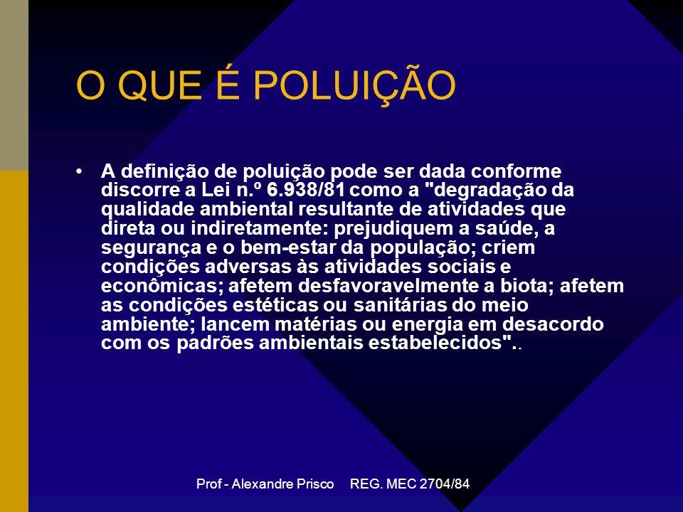 Prof - Alexandre Prisco REG. MEC 2704/84