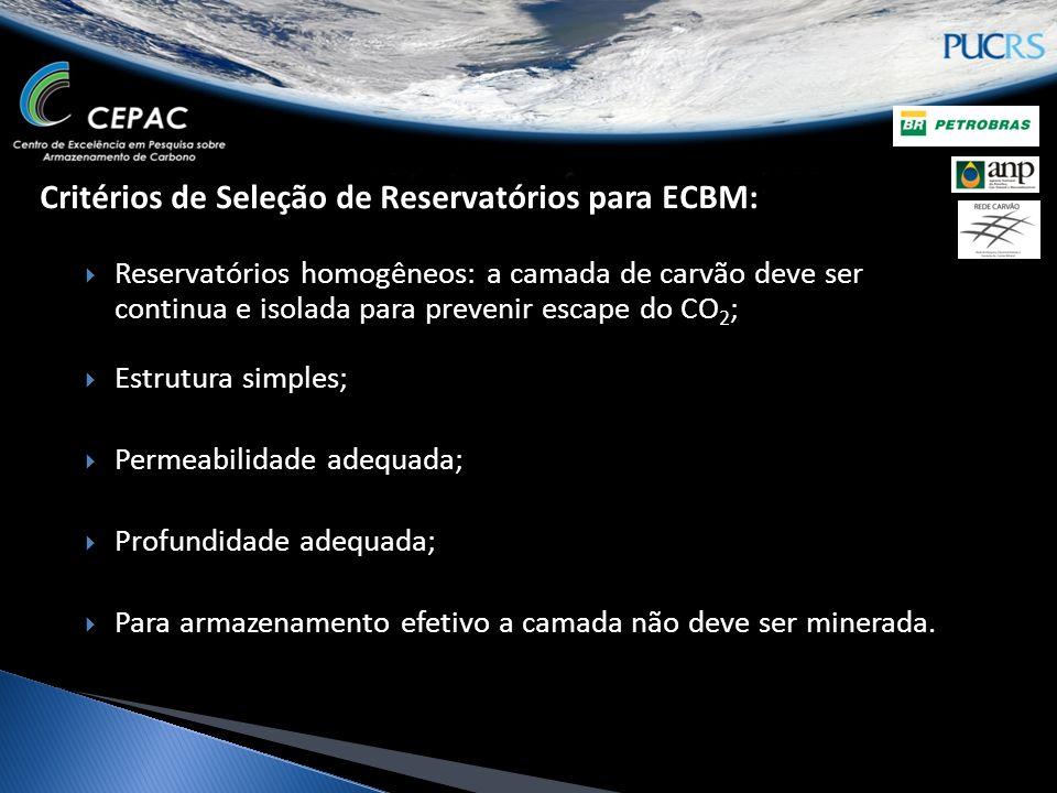 Critérios de Seleção de Reservatórios para ECBM: