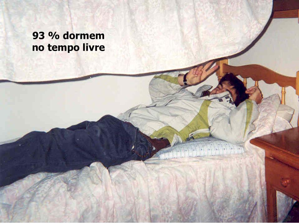 93 % dormem no tempo livre