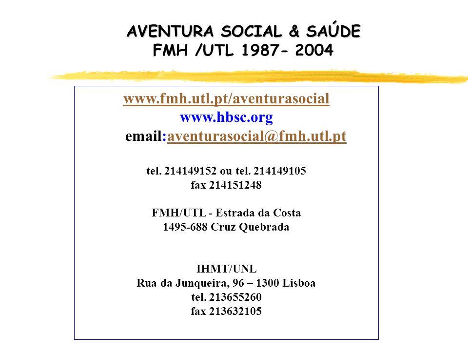 AVENTURA SOCIAL & SAÚDE FMH /UTL 1987- 2004