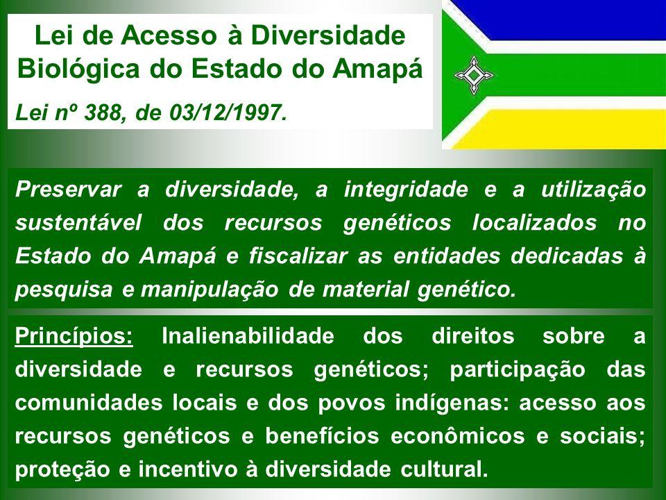 Lei de Acesso à Diversidade Biológica do Estado do Amapá