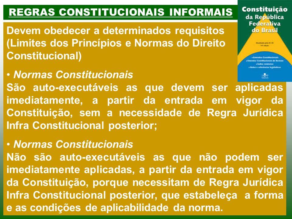 REGRAS CONSTITUCIONAIS INFORMAIS