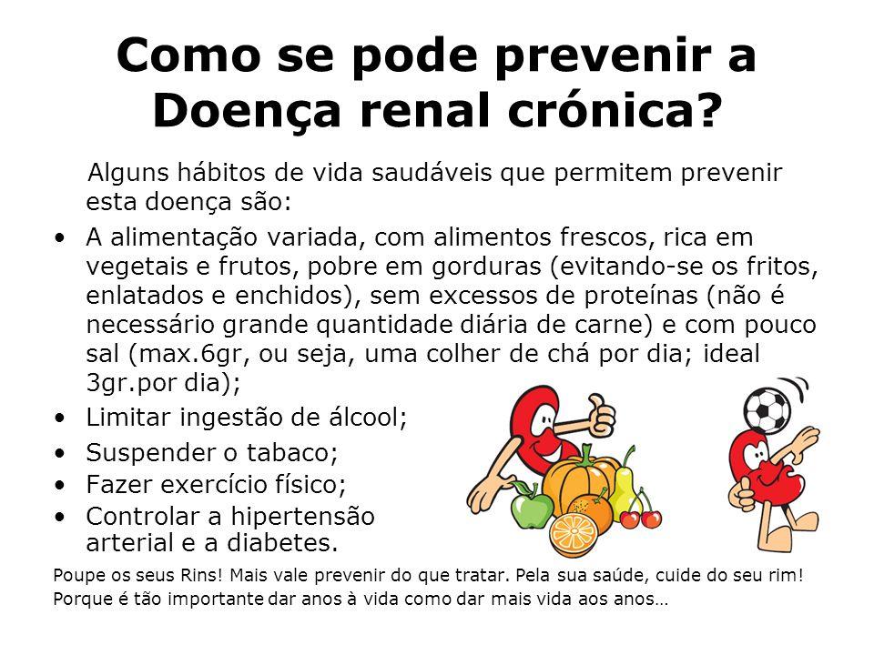 Como se pode prevenir a Doença renal crónica