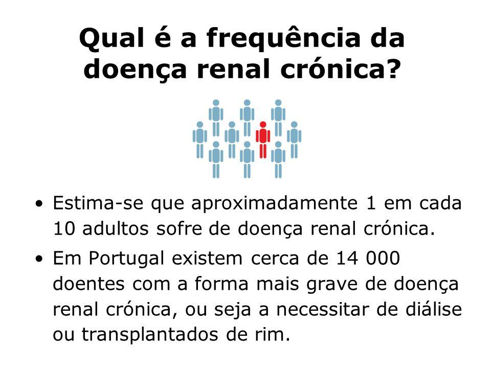 Qual é a frequência da doença renal crónica