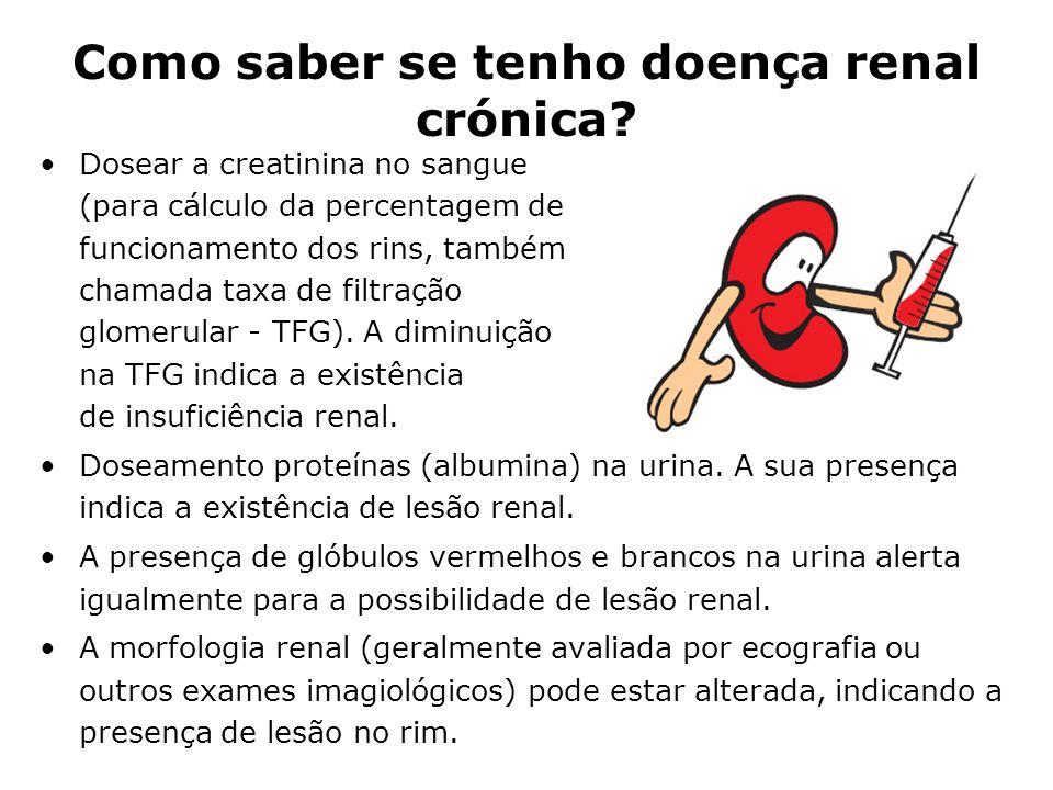 Como saber se tenho doença renal crónica