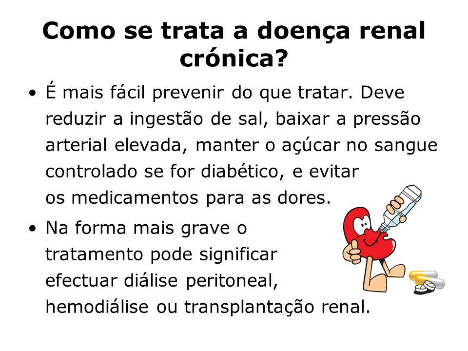 Como se trata a doença renal crónica