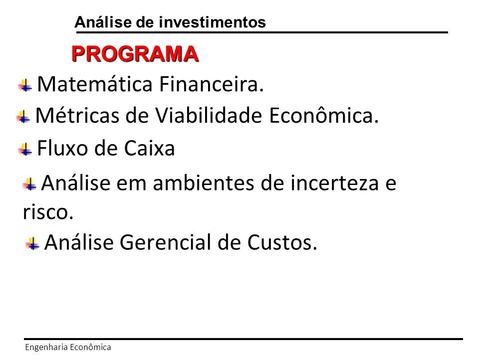 Matemática Financeira.
