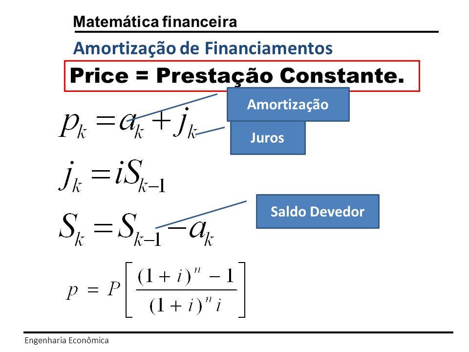 Price = Prestação Constante.