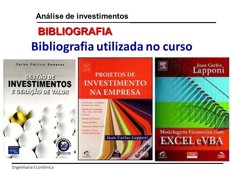 Bibliografia utilizada no curso