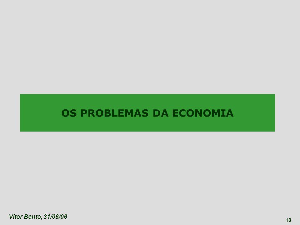 OS PROBLEMAS DA ECONOMIA
