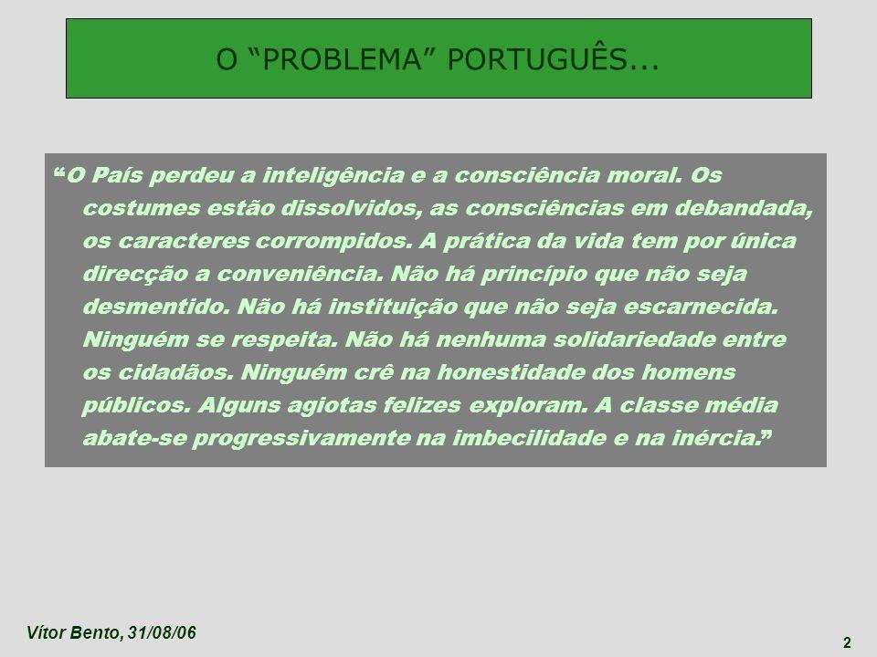 O PROBLEMA PORTUGUÊS...