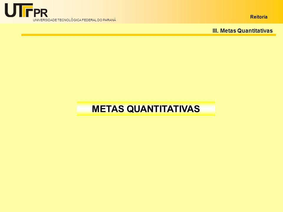 III. Metas Quantitativas