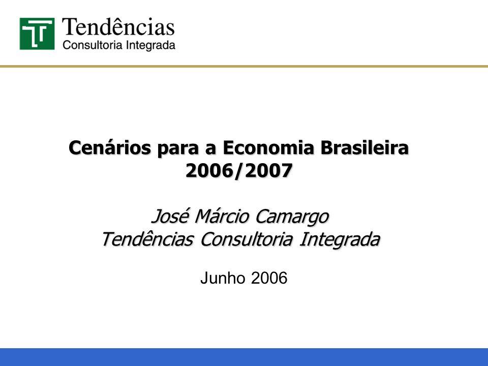 Cenários para a Economia Brasileira 2006/2007 José Márcio Camargo Tendências Consultoria Integrada