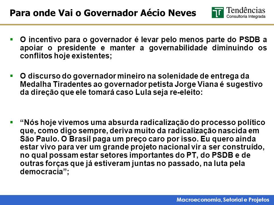 Para onde Vai o Governador Aécio Neves