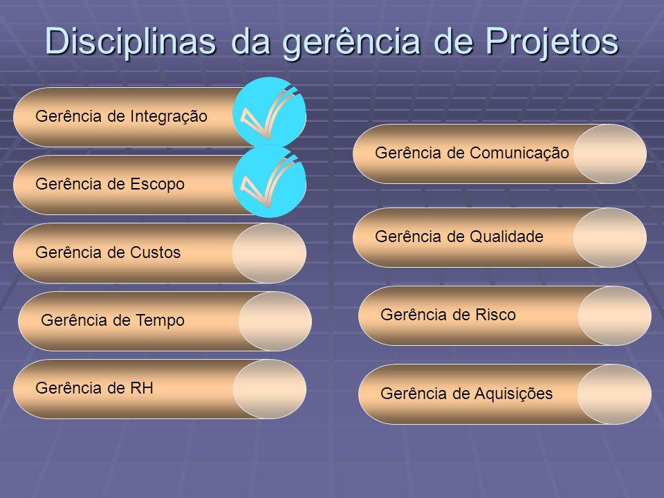 Disciplinas da gerência de Projetos