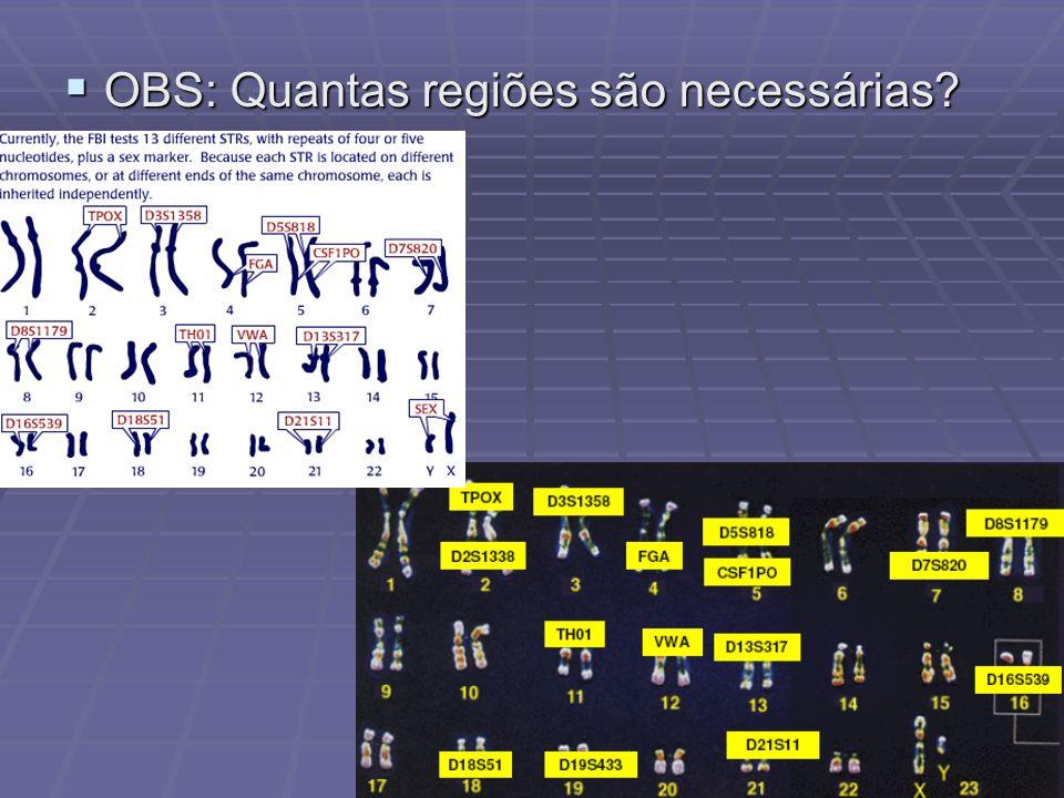 OBS: Quantas regiões são necessárias