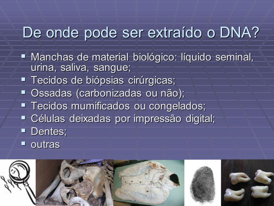 De onde pode ser extraído o DNA
