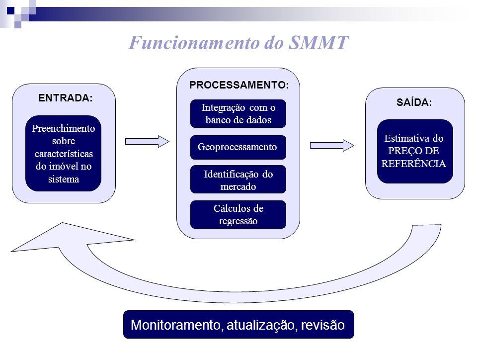 Funcionamento do SMMT Monitoramento, atualização, revisão