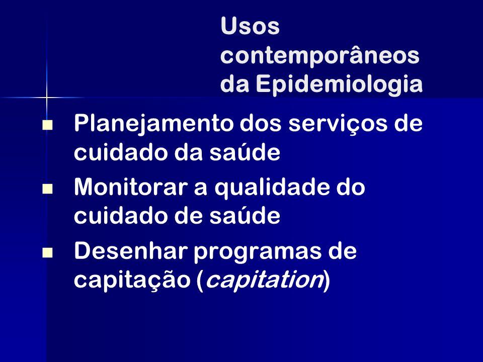 Usos contemporâneos da Epidemiologia