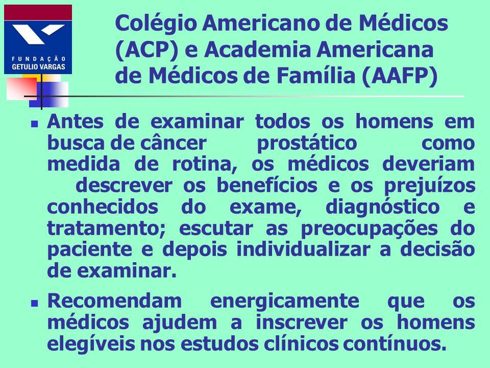 Colégio Americano de Médicos (ACP) e Academia Americana de Médicos de Família (AAFP)