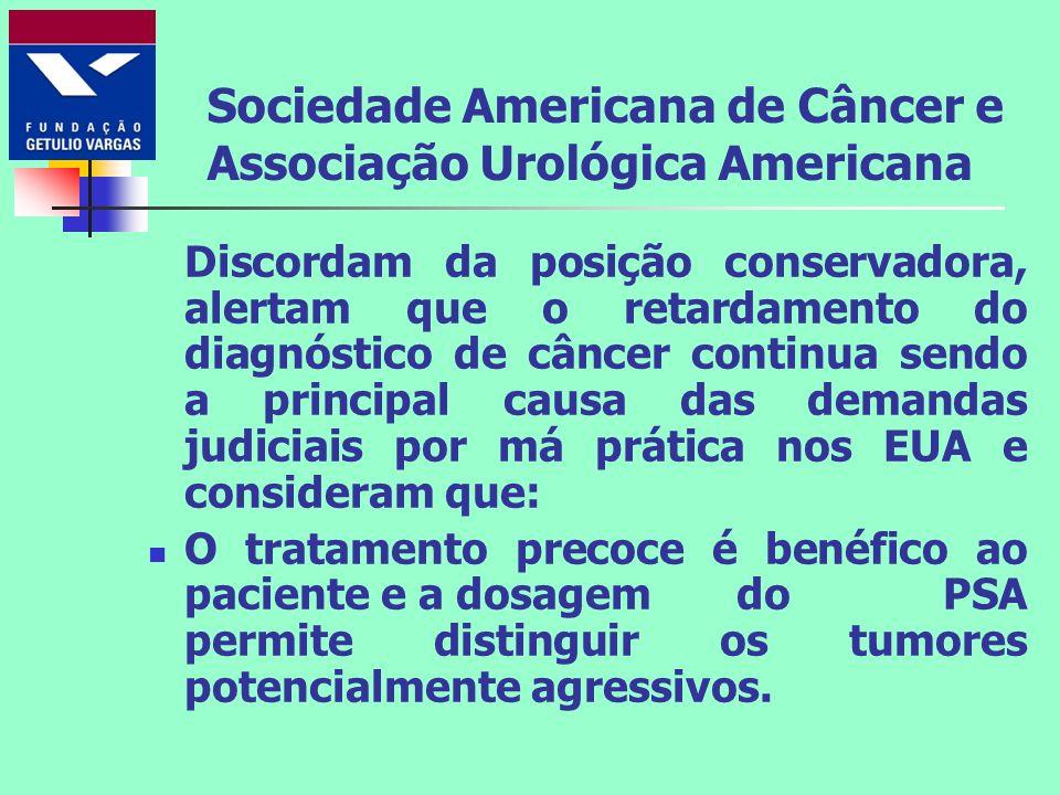 Sociedade Americana de Câncer e Associação Urológica Americana