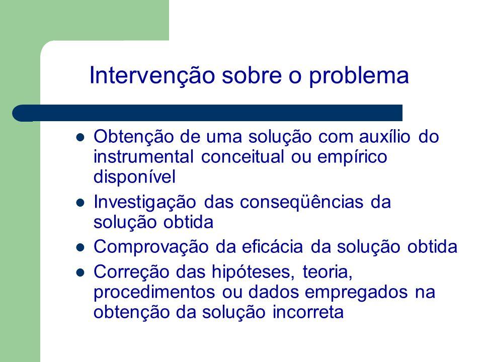 Intervenção sobre o problema
