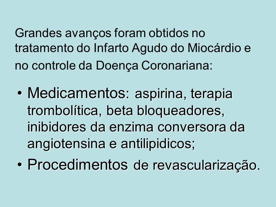 Procedimentos de revascularização.