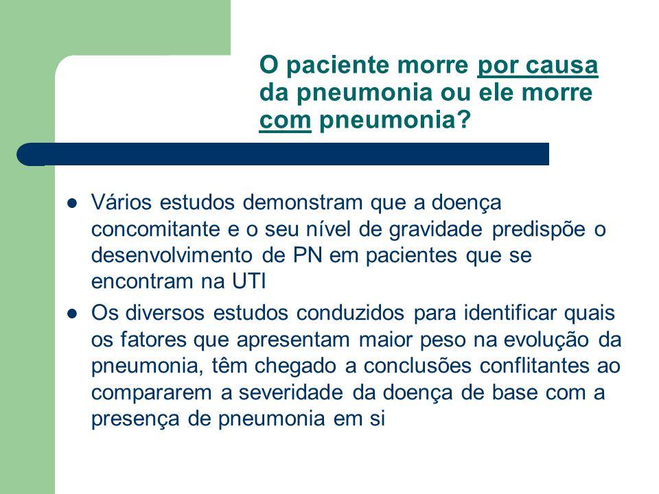 O paciente morre por causa da pneumonia ou ele morre com pneumonia