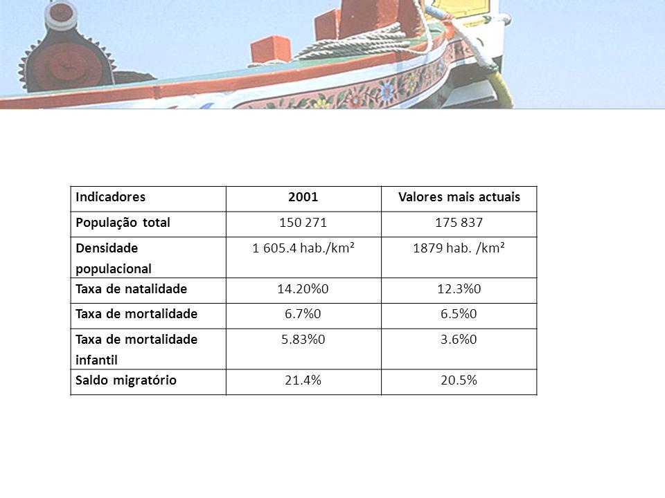 Conselho do seixal Indicadores Demográficos