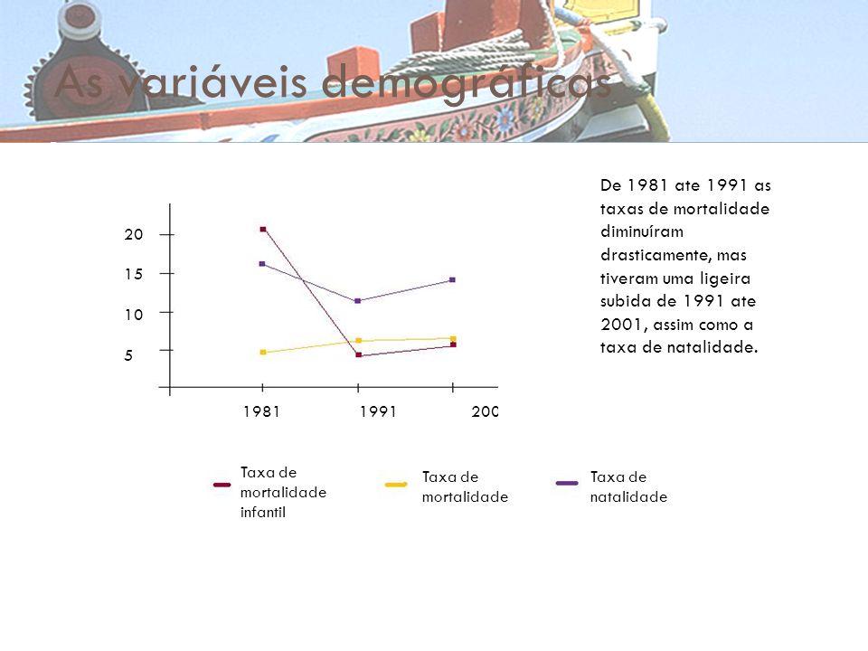 As variáveis demográficas