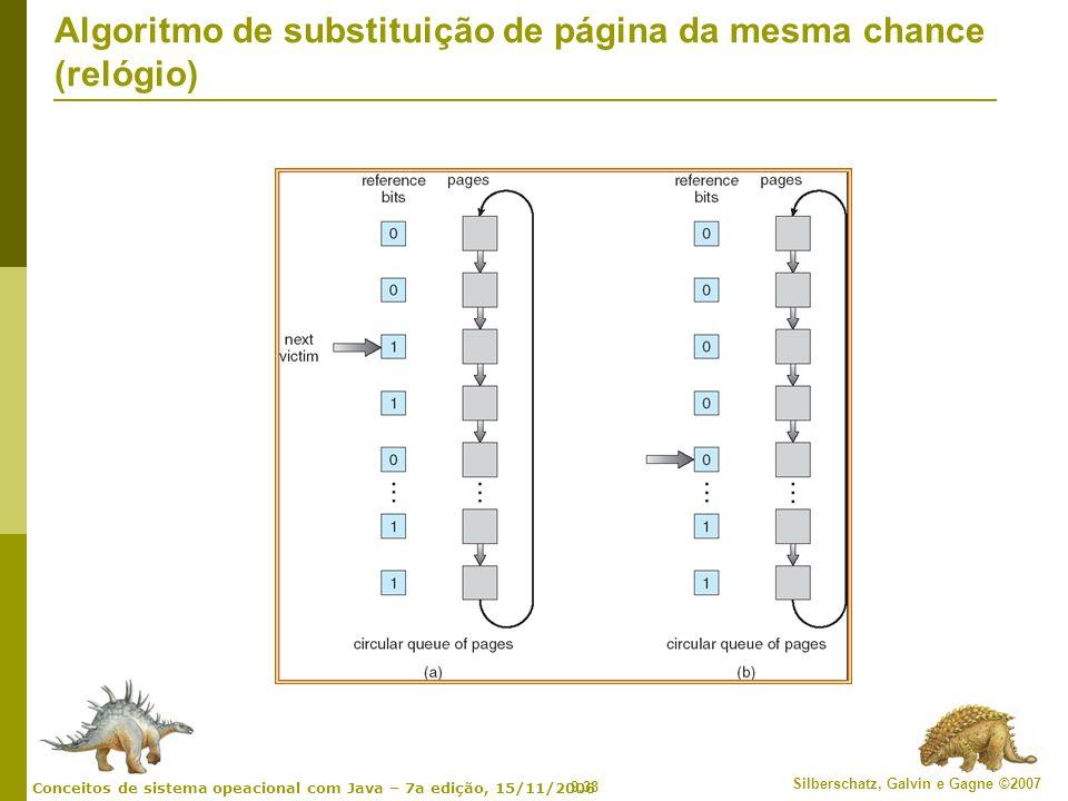 Algoritmo de substituição de página da mesma chance (relógio)