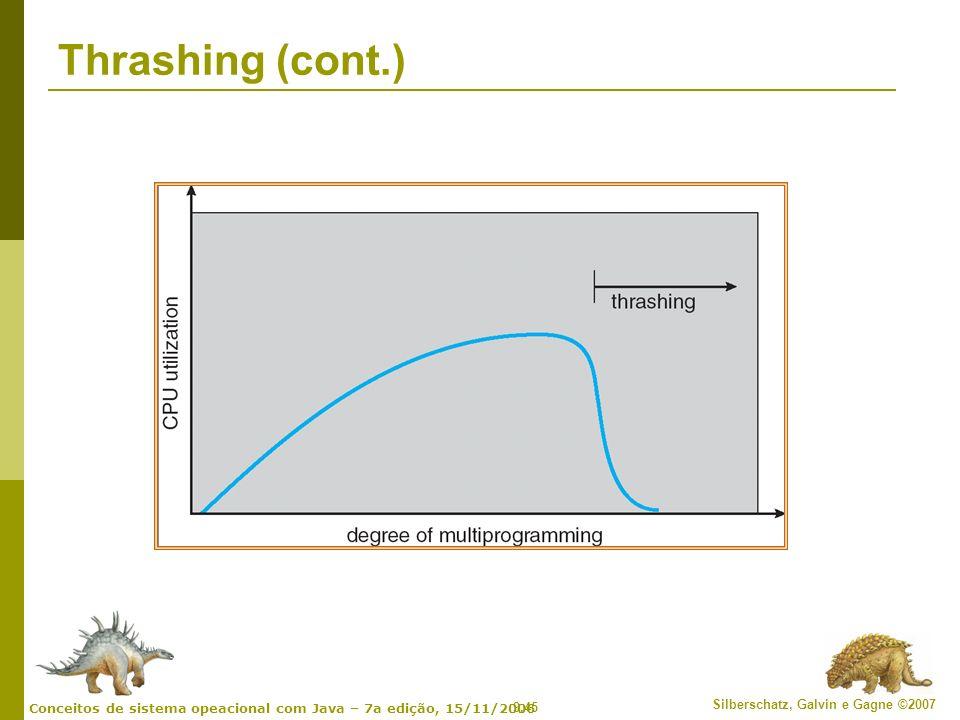 Thrashing (cont.)