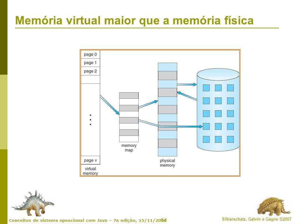 Memória virtual maior que a memória física
