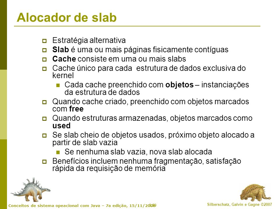 Alocador de slab Estratégia alternativa