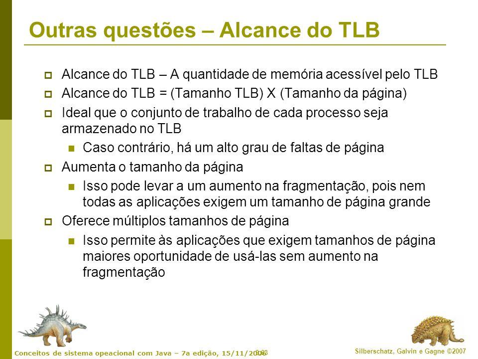 Outras questões – Alcance do TLB