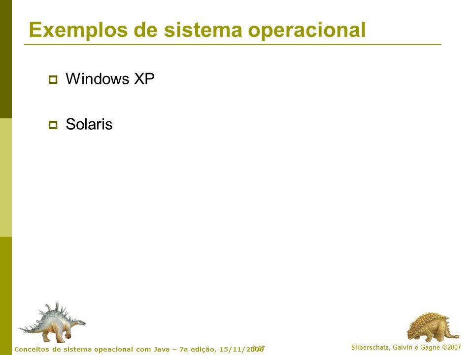 Exemplos de sistema operacional