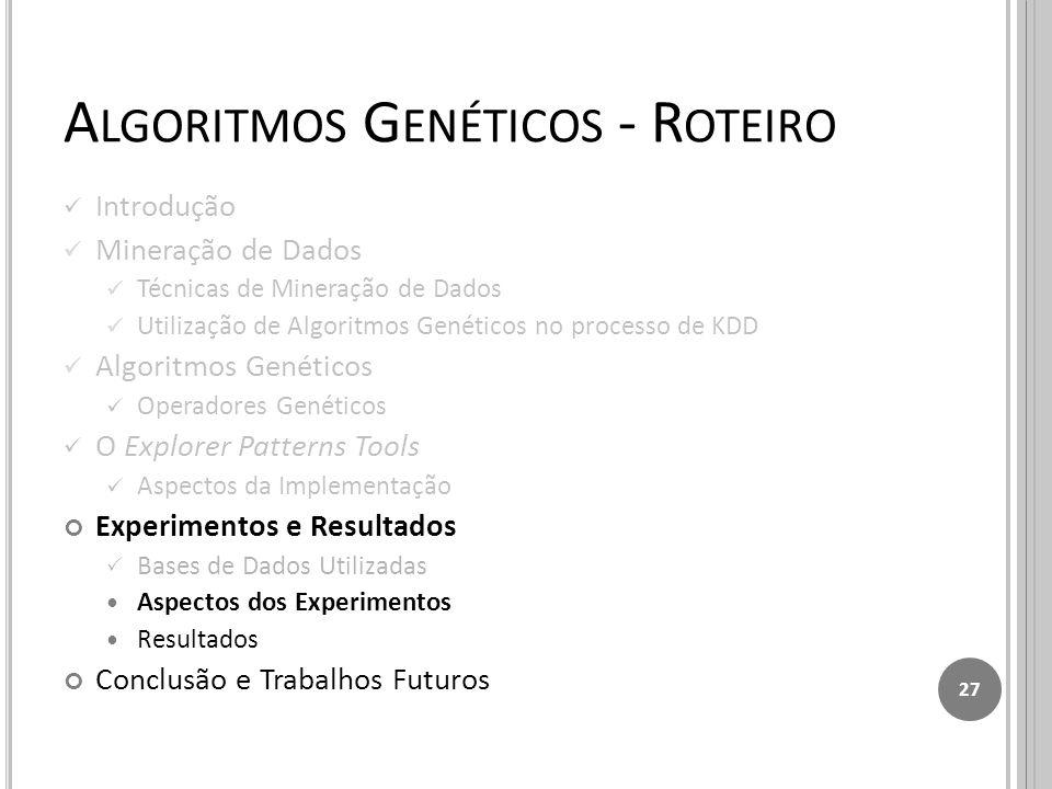 Algoritmos Genéticos - Roteiro