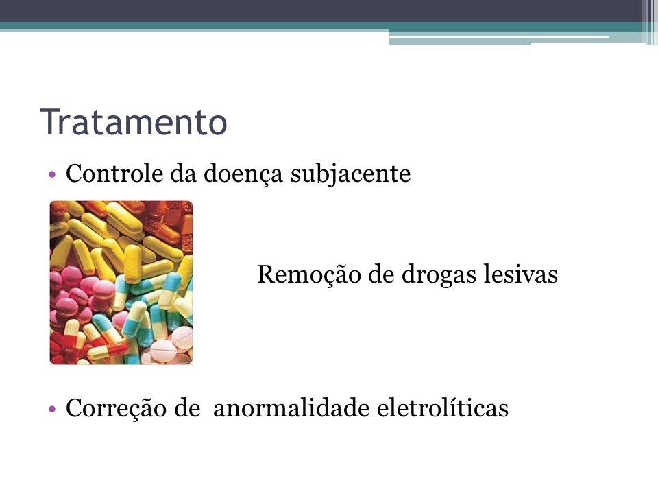 Tratamento Controle da doença subjacente Remoção de drogas lesivas