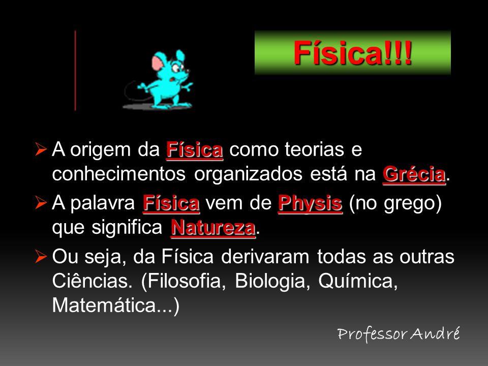 Física!!! A origem da Física como teorias e conhecimentos organizados está na Grécia.