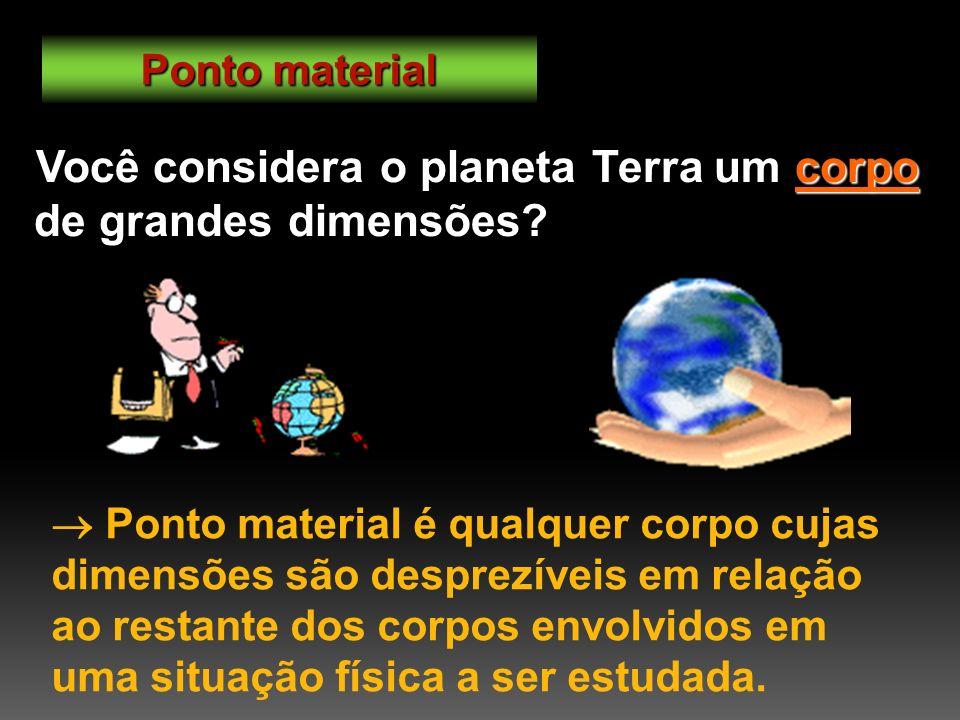 Você considera o planeta Terra um corpo de grandes dimensões