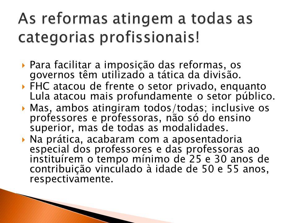 As reformas atingem a todas as categorias profissionais!