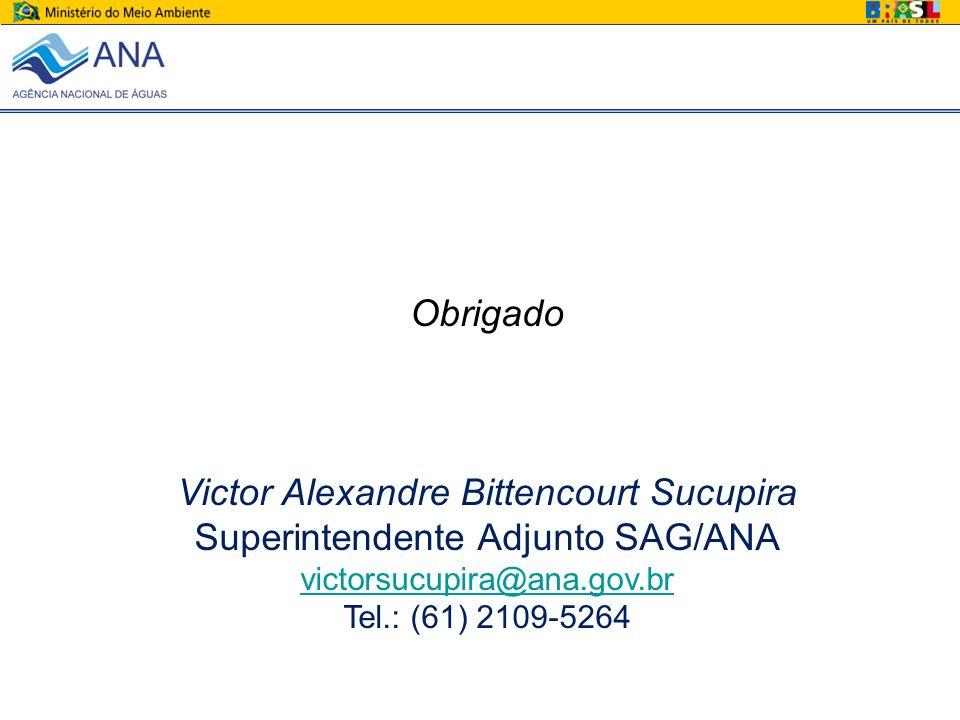 Victor Alexandre Bittencourt Sucupira Superintendente Adjunto SAG/ANA