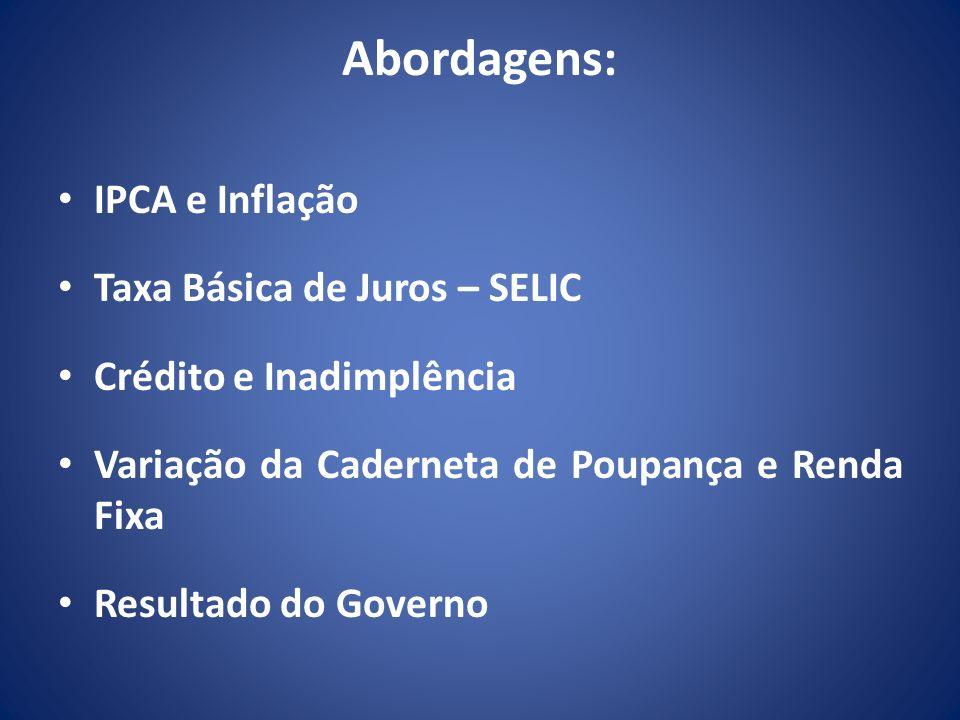 Abordagens: IPCA e Inflação Taxa Básica de Juros – SELIC
